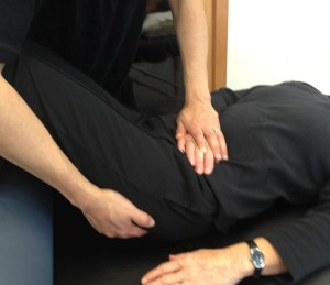 Treating the illial segment of the Fascia of Toldt. Copyright (C) Tim Hodges Manual Therapy, LLC