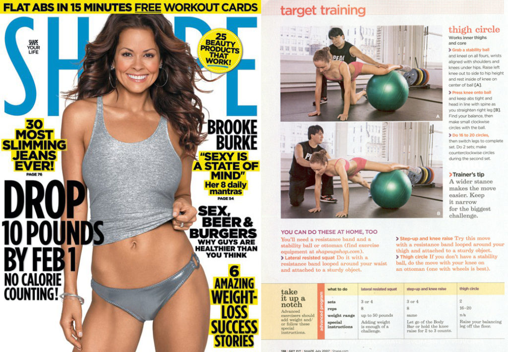 Coach Izzy in Shape Magazine